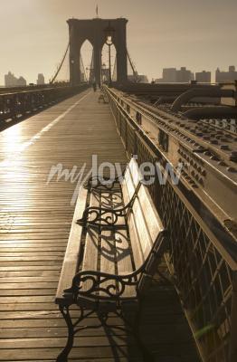 Obraz Brooklyn most v sépie