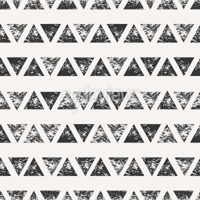 Fototapeta Abstraktní bezproblémové vzorek s lisovaných trojúhelníkovými tvary