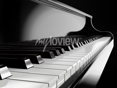 Obraz Klavír klávesy na černém piano