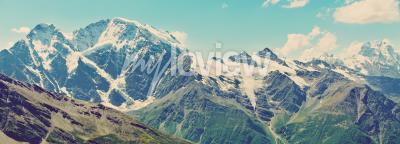 Fototapeta Zimní hory panorama