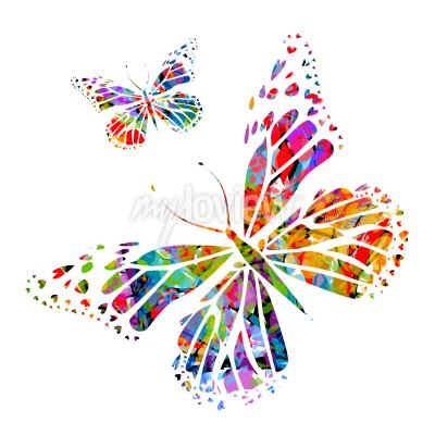Fototapeta Silueta motýl na skvrny od laku