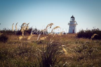 Fototapeta Historické Maják v Waipapa Point Catlins na Novém Zélandu