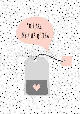 Obraz Zpráva Jsi můj šálek čaje