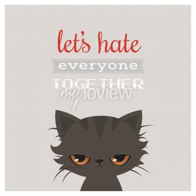 Plakát Zlobí kočka karikatury