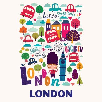Fototapeta Vzor s londýnskými symboly