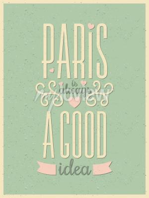 Fototapeta Vintage style typografie Paříž plakát