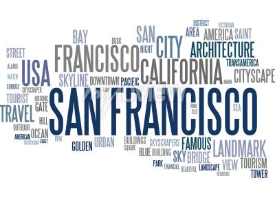 Fototapeta San Francisco word cloud