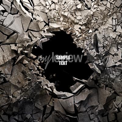 Cracked earth abstraktní pozadí vysoké rozlišení 3d render