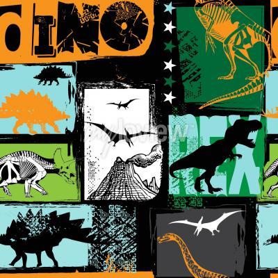 Fototapeta Originální design s dinosaurem t-rex