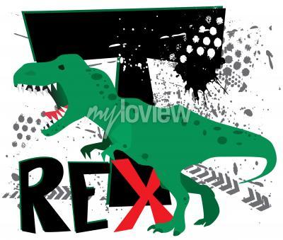 Fototapeta Nebezpečný t-rex