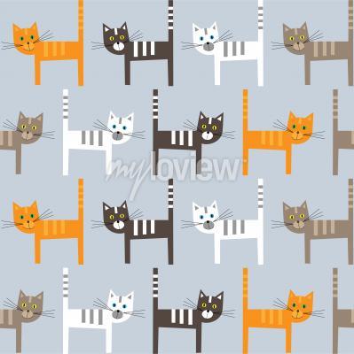 Fototapeta Cats pattern