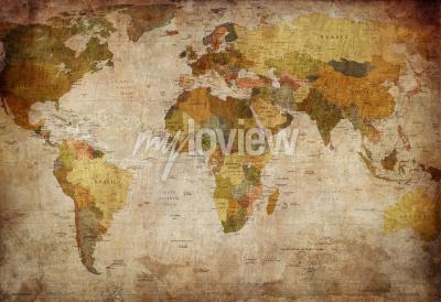 Fototapeta Old map of the world