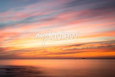 Nálepka Fototapeta: Sunrise over a beach in Cornwall UK