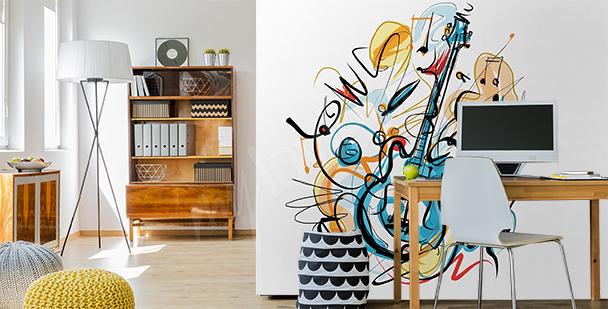 Abstraktní fototapeta s hudbou