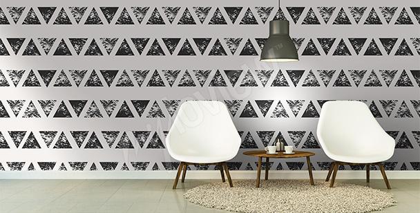 Abstraktní fototapeta trojúhelníky