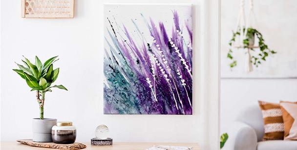 Abstraktní obraz levandule
