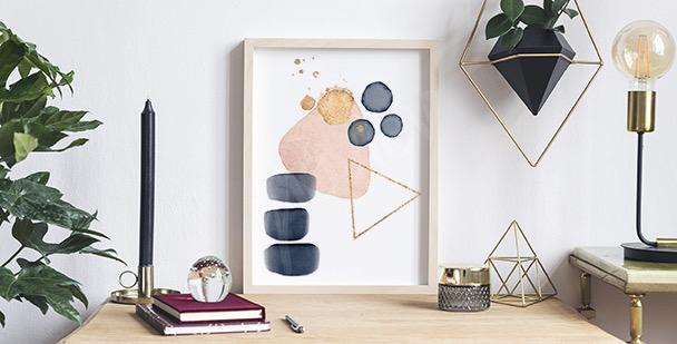 Abstraktní plakát akvarel