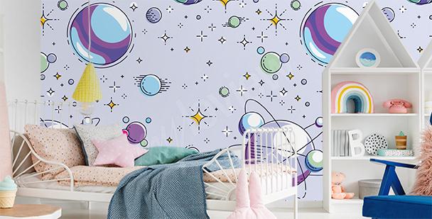 Barevná fototapeta do dětského pokoje