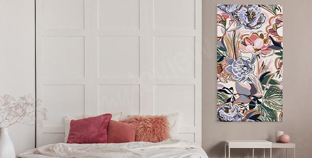 Barevný obraz floral style