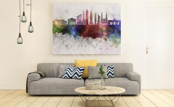 barevný obraz s New Yorkem