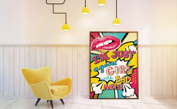 Barevný plakát pop art