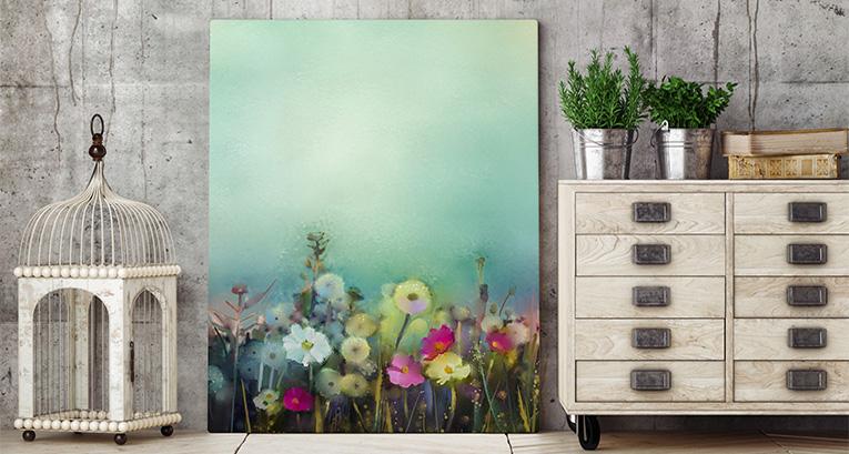 Obrazy s květinami – univerzální dekorace bytu