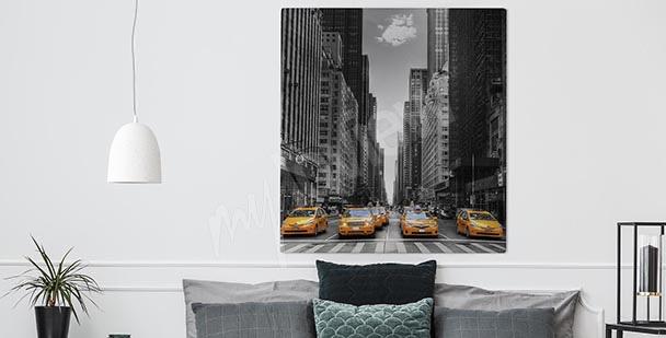 Černobílý obraz New York