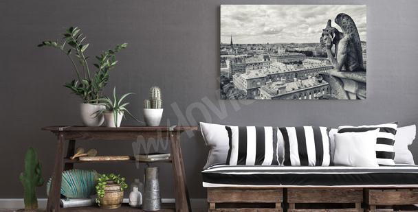 Černobílý obraz Paříž