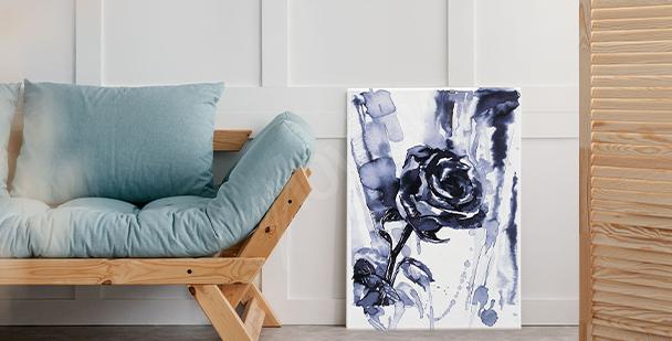 Černobílý obraz růže