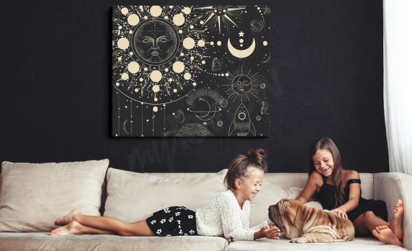 Černobílý obraz vesmír