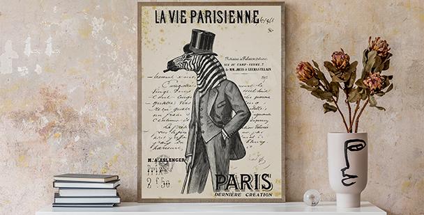 Černobílý plakát vintage