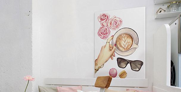 Dámský obraz káva