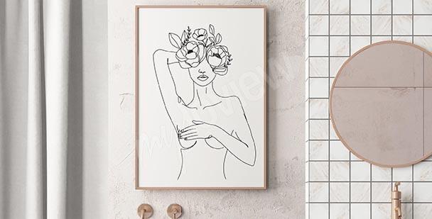 Dámský plakát do koupelny