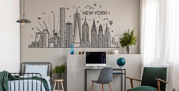 Dekorativní nálepka New York