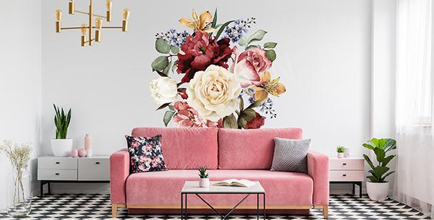 Dekorativní nálepka s květinami