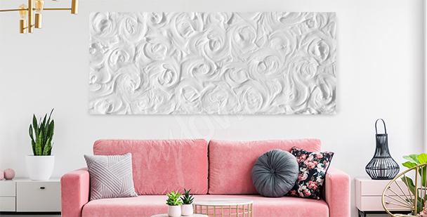 Delikátní obraz bílé růže