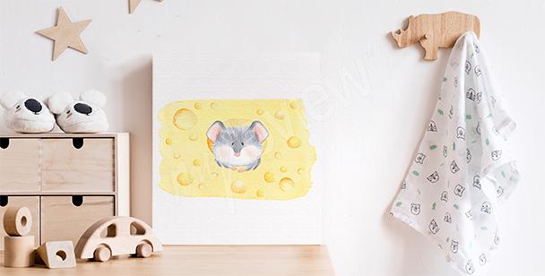 Dětský obraz s myškou