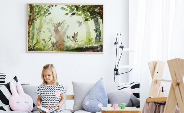Dětský plakát les