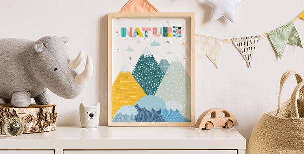 Dětský plakát příroda