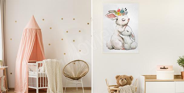 Dětský plakát se zvířaty