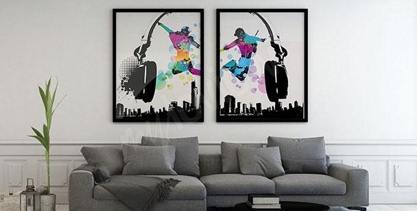 Dvoudílný hudební plakát