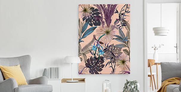 Exotický obraz ve stylu floral