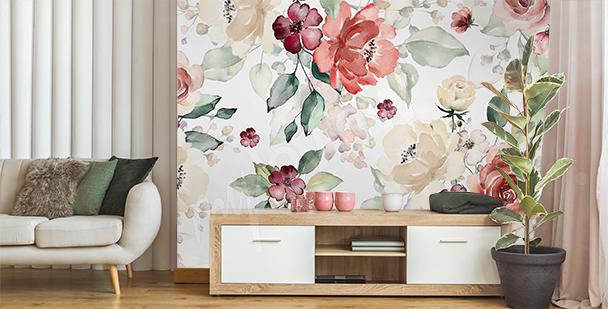 Floral fototapeta do obývacího pokoje