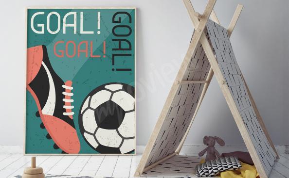 Fotbalovy plakát pro fanouška