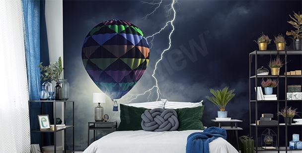 Fototapeta balón v bouři