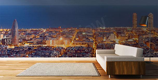 Fototapeta Barcelona v noci