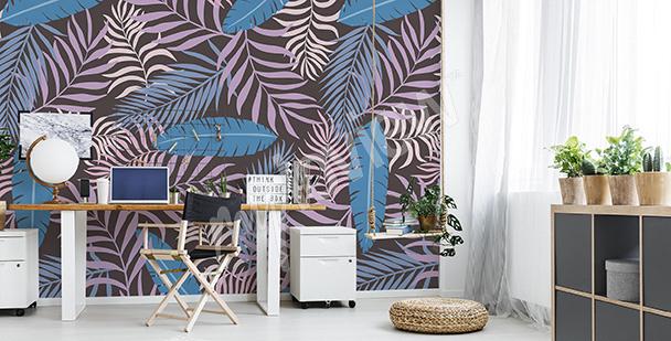 Fototapeta barevné listí palmy