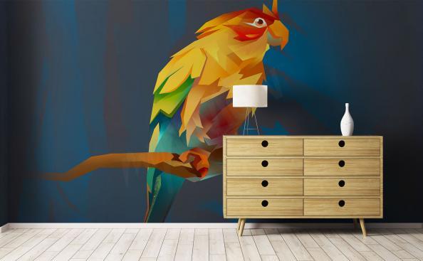 Fototapeta barevný papoušek