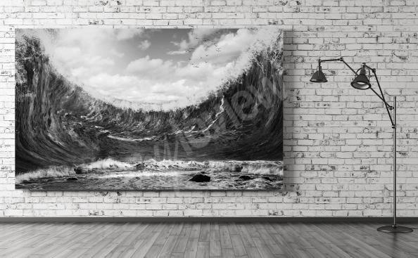 Fototapeta černo-bílé moře