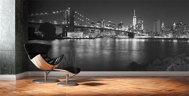 Fototapeta černobílé panorama